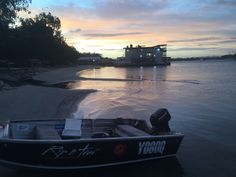 Great place to watch the sunset near the boathouse #noosariver