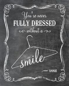 You're Never Fully Dressed Without A Smile - Lyrics From Annie - Vertical Print…