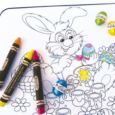 Easter Bunny colour me placemat limited edition. Visit www.hardtofind.com.au #gift #easter #easterbunny