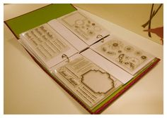 storage for clear stamps.. love this idea. The web page this is on is great. She shows many ideas.