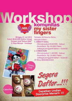 jadwal workshop MSF - 2012