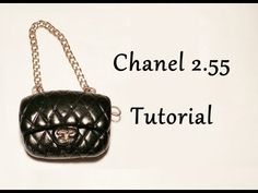 Tutorial borsa Chanel 2.55 in Fimo - Polymer clay Chanel bag