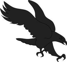 Printable Hawk Silhouette | Bird Of Prey Clipart Image - An eagle swooping in to grab its prey