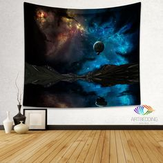 Galaxy Tapestry, Fantasy wall tapestry, Space tapestry wall hanging, Galaxy home decor, Space wall art print