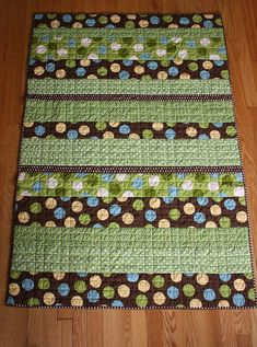 easy baby quilt - applique name on to personalize