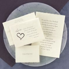 Choose a wedding invitation that reflects your love and faith. 'Love bears all things . . .' is printed on the front of this French-fold, parchment invitation. The verse is printed in the same ink color as your wording.   * paper weight - quality 60# text parchment * Includes FREE blank double envelopes * Enclosures sold separately