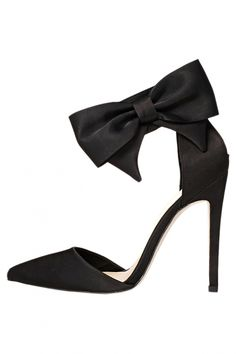 Big Bowknot Pointed Toe High Heels Stilettos
