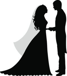 Newly married couple silhouettes free vector couple silhouette stencil wedding silhouette junglespirit Gallery