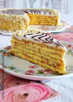 Bulgarian Desserts, Bulgarian Recipes, Russian Recipes, Sweet Desserts, Sweet Recipes, Esterhazy Torte, Cookie Recipes, Dessert Recipes, 20 Birthday Cake