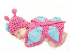 High quality birth keepsake, newborn baby girl crochet butterfly flower hat beanie onesies outfit costume photography props meet your taste! my baby keepsake ensure you best package, and keepsake box baby girl from satisfies your kids anytime! Handgemachtes Baby, Baby Hut, Baby Kind, Baby Girl Newborn, Baby Girls, Baby Pool, Crochet Butterfly, Butterfly Baby, Butterfly Design