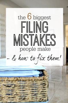 The 6 biggest filing mistakes that you can make when you do your paperwork - AND how to fix them all. Are you guilty of any of these 6?