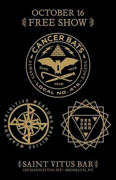 October 16th, 2012 at Saint Vitus Bar with Cancer Bats and Primitive Weapons