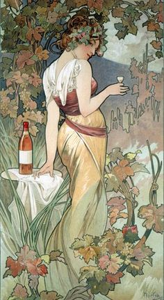 >>>I'm leaning towards the addition of grapes to the greater scheme of things. Coupling that idea with your art nouveau background, and found this. Would want to tweak/personalize it a bit, but love the idea!