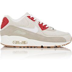 """Nike Air Max 90 QS """"New York"""" Sneakers (195 CAD) ❤ liked on Polyvore featuring shoes, sneakers, grey, grey flat shoes, nike, shiny shoes, lacing sneakers and nike sneakers"""