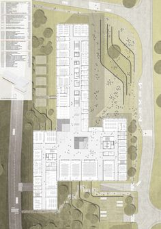 a f a s i a: Arhitektura Krušec Architecture Site Plan, Colour Architecture, Education Architecture, Concept Architecture, School Building Design, School Design, Innovation Centre, Mega Mansions, Site Plans
