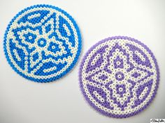 Large Picture and Hama Bead Patterned Coasters by ElistonButton