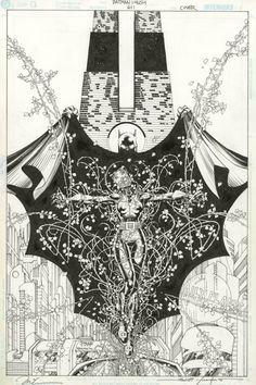 Batman #611 Cover by Jim Lee and Scott Williams. Comic artwork