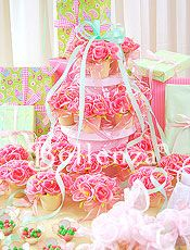 Preppy For an Ultra-pretty Bridal Shower in pink and green