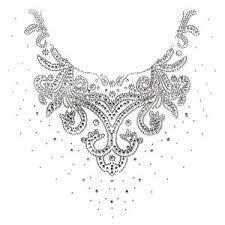 Afbeeldingsresultaat voor hotfix neckline Neckline Designs, Pointillism, Ao Dai, Pattern Design, Diamond, Crochet, Silver, Painting, Jewelry