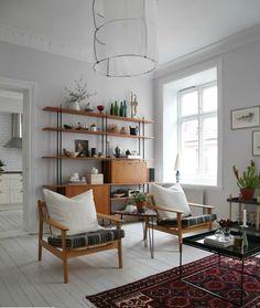 A sweet, serene Swedish interior – Top Trend – Decor – Life Style Swedish Interior Design, Swedish Interiors, Swedish Decor, Scandinavian Interior, Interior Design Living Room, Interior Decorating, Scandinavian Design, Room Decor Bedroom, Living Room Decor