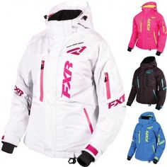 FXR Racing Fresh Solid Womens Skiing Snowboard Sled Snowmobile Jackets