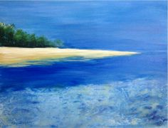 "16"" x 20"" Acrylic on canvas Summer series 2015 Original art by: PinkyFLizares #beach #summer #seascape #painting"