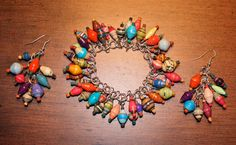 Bead for Life Paper Jewel Bracelet and Earring Set by Wingedlight, $45.00