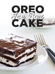 Oreo Ice Box Cake - this no bake cake couldn't be easier, or more delicious!