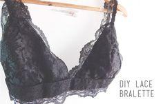 DIY Lace bralette| Sujetador lencero