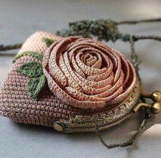 f9d9ec38e Crochet Monederos, Mochilas Crochet, Mantas De Ganchillo, Ganchillo  Crochet, Monedero Tejido,