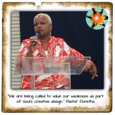 """""""We are being called to value our weakness as part of God's creative design.."""" Pastor Doretha  #mccsac #mcc #achurchforall #sundaysermon #pastordorethasays"""