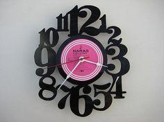 upcycling at it's best! vinyl record clock by vinylclockwork