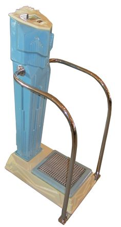 American art deco penny scale was produced by the Mills Industries of Chicago ca. 1935.