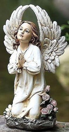 Angel Garden Statues, Garden Angels, Statue Ange, I Believe In Angels, Outdoor Statues, Angel Pictures, Angel Art, Ikon, Studio