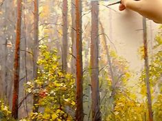Maxim Grunin landscape painting in acrylics part 2
