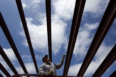 Scott Johnson of Summit Construction marks steel cross beams Thursday as he and other construction workers continue to dismantle the former Stagebarn Elementary School building in the Piedmont/Summerset area. Construction of a new middle school will begin at the site once the former elementary school is demolished. #newschool #Piedmont #Summerset #construction #BlackHillsblueskies