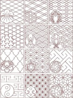 Advanced Embroidery Designs - Sashiko Set II - would make a great design