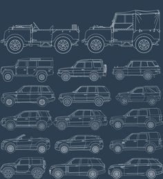 65 years of Land Rover. Land Rover Serie 1, Land Rover Defender 110, Range Rover Evoque, Range Rover Sport, Best Off Road Vehicles, Gumball 3000, Land Rover Freelander, Range Rover Classic, Cars Land