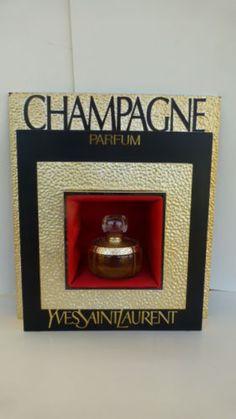 YVES-SAINT-LAURENT-CHAMPAGNE-ancien-presentoir-de-parfum