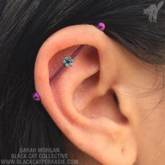 http://ift.tt/2967TOZ Andrea healed her industrial piercing like a champ, and celebrated with new fancy titanium jewelry from Anatometal ♡ via Instagram http://ift.tt/294b3lx
