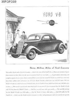 Old car and truck advertisements, Ford Vintage Cars, Antique Cars, Vintage Ladies, Car Restoration, Advertising, Ads, Henry Ford, Ford Motor Company, Old Cars