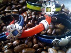 Les meves creacions, braçalets de cuir i imitació My creations, Bracelets Leather and imitation leather. More info: www.cuirambcn.com