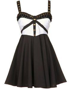 Plated Babydoll Dress
