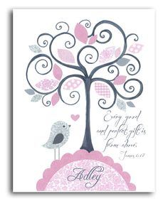 Look at this #zulilyfind! Pink 'Every Good & Perfect Gift' Personalized Print by Peanut and Buttons #zulilyfinds