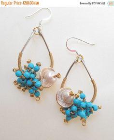 ON SALE Eye catching gemstone chandelier earrings cluster