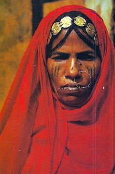 Yemen   Ababda woman, Arab Sleh.   © H.M.Nouwens ~ scanned postcard image.   The Ababda belong with four other tribes to the Bedja group, of which the great majority lives in Sudan. Many Ababda now live in towns and villages in the Nile Valley and the Red Sea coast.