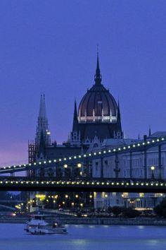 The Széchenyi Chain Bridge,  Budapest, Hungary