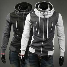 Herren-Jacke-Winter-Jacken-Parka-Slim-Fit-Hoodie-Herrensakko-Sport-Maentel-Coat
