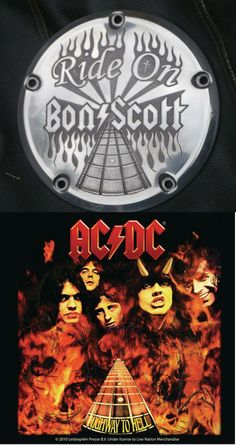 Hand engraved Harley Derby Cover  Bon Scott Tribute  AC-DC  Highway to Hell Theme