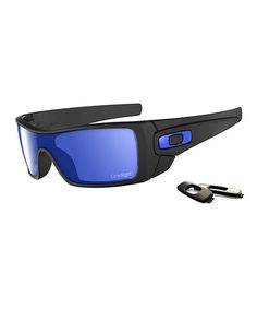 2e881bce47f Take a look at this Matte Black  amp  Ice Batwolf Sunglasses - Men by Oakley